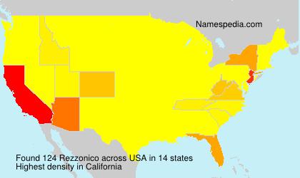 Familiennamen Rezzonico - USA