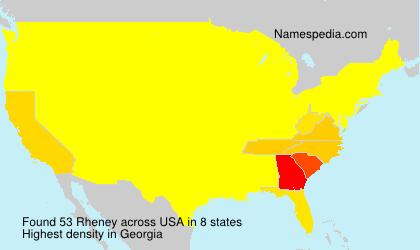 Familiennamen Rheney - USA