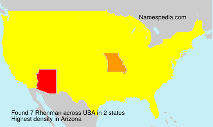 Surname Rhenman in USA
