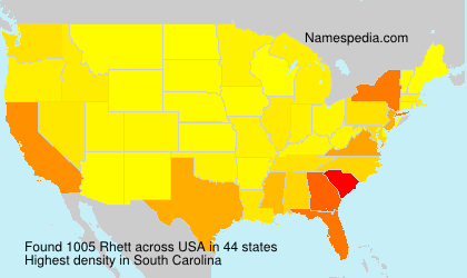 Surname Rhett in USA