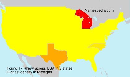 Surname Rhiew in USA