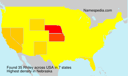 Surname Rhiley in USA