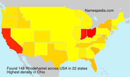 Surname Rhodehamel in USA