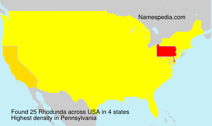 Surname Rhodunda in USA