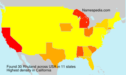 Surname Rhuland in USA