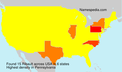 Surname Ribault in USA