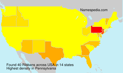 Surname Ribbans in USA