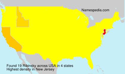 Surname Ribinsky in USA