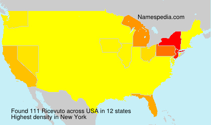 Surname Ricevuto in USA