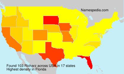 Familiennamen Richarz - USA