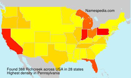 Surname Richcreek in USA