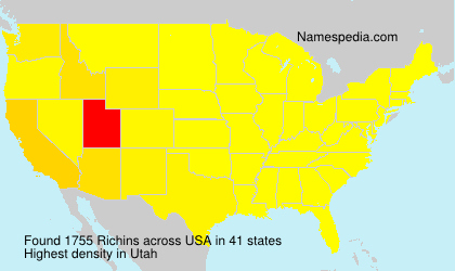 Surname Richins in USA