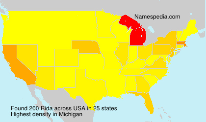 Familiennamen Rida - USA