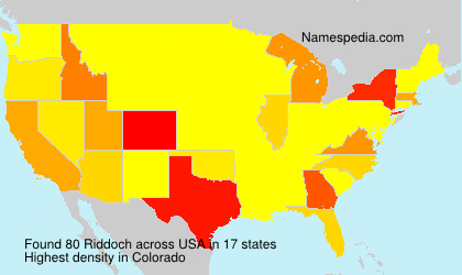 Surname Riddoch in USA