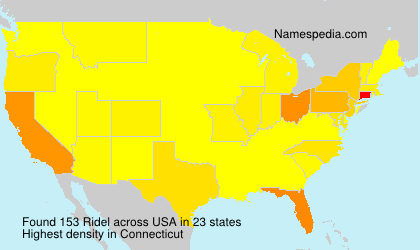 Surname Ridel in USA