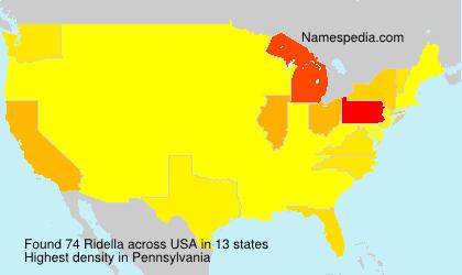 Surname Ridella in USA