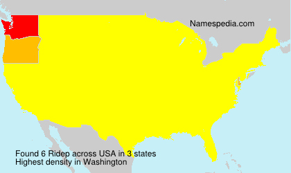 Surname Ridep in USA