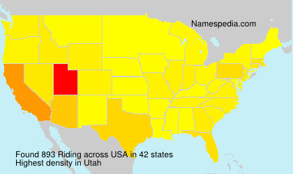 Surname Riding in USA