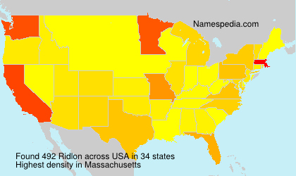 Surname Ridlon in USA