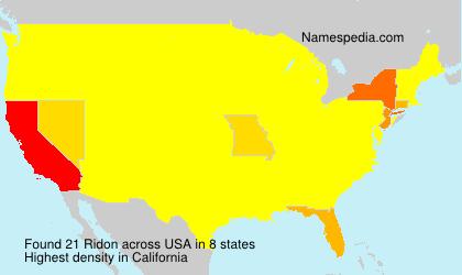 Surname Ridon in USA