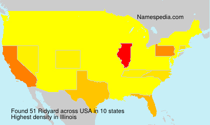 Surname Ridyard in USA