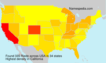 Surname Riede in USA