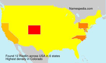 Surname Riedlin in USA