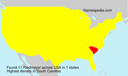 Surname Riedmayer in USA