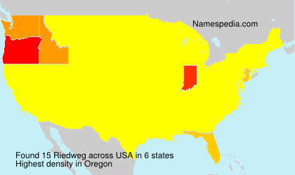 Surname Riedweg in USA
