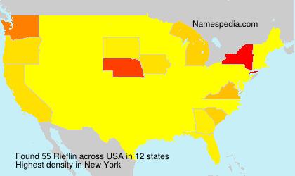Surname Rieflin in USA