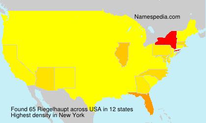 Surname Riegelhaupt in USA