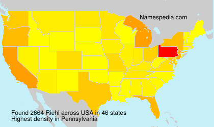 Surname Riehl in USA