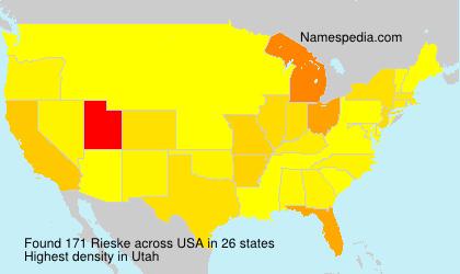 Surname Rieske in USA