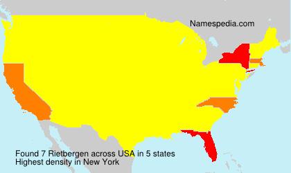 Surname Rietbergen in USA