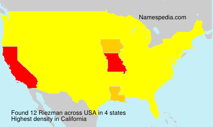 Surname Riezman in USA