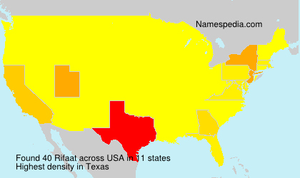 Surname Rifaat in USA