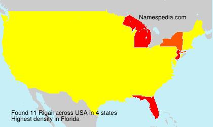 Familiennamen Rigail - USA