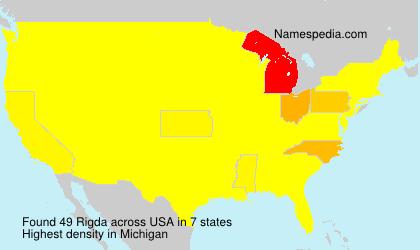 Surname Rigda in USA