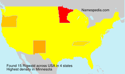 Surname Rigwald in USA