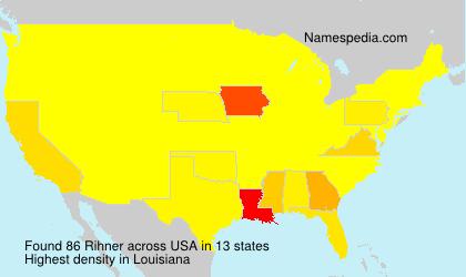 Familiennamen Rihner - USA