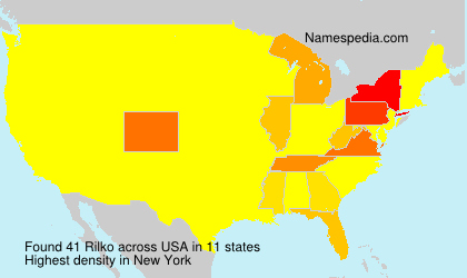 Surname Rilko in USA
