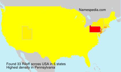 Surname Riloff in USA