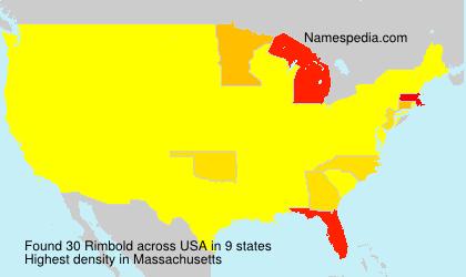 Surname Rimbold in USA
