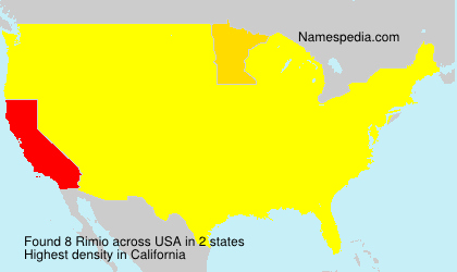 Surname Rimio in USA