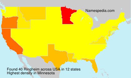 Surname Ringheim in USA