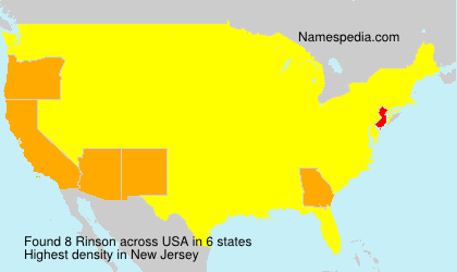 Surname Rinson in USA