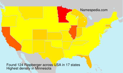 Surname Rippberger in USA