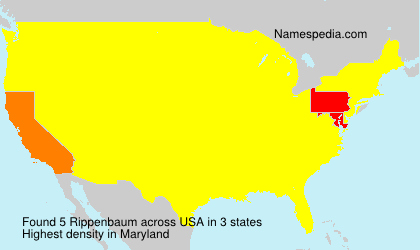 Surname Rippenbaum in USA