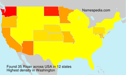 Surname Risan in USA
