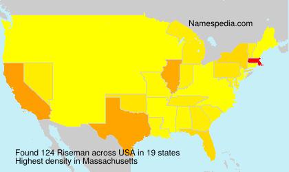 Surname Riseman in USA